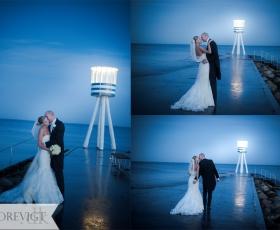 bryllupsfoto ved vandet