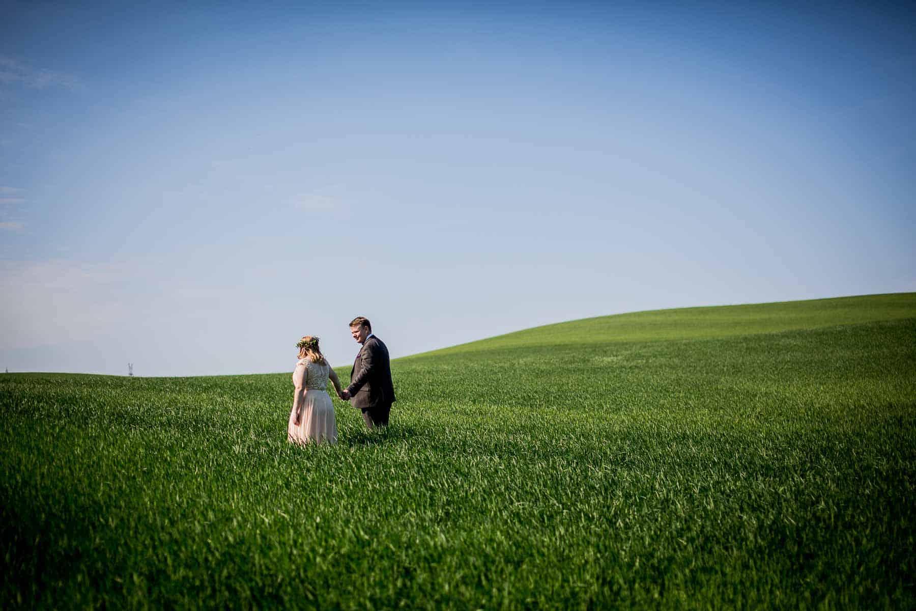 brudepar i mark