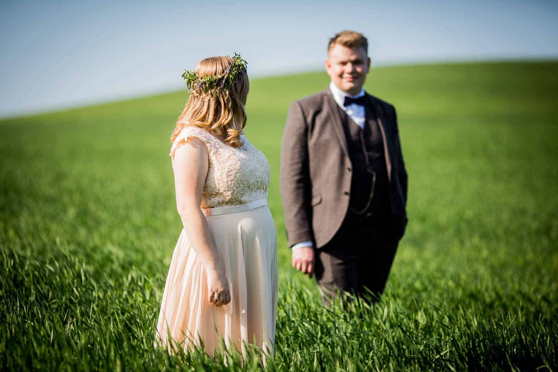 brudeparret i mark