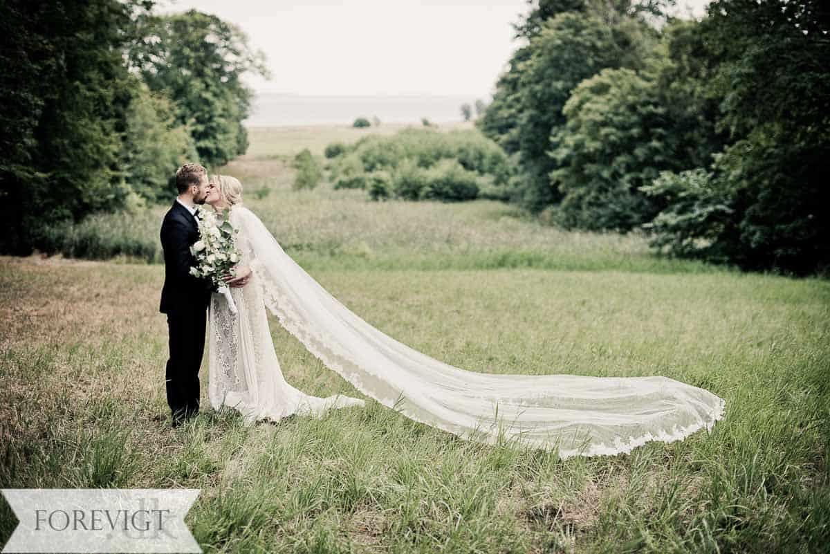 Bryllupsbilleder fra Kokkedal slot bryllup