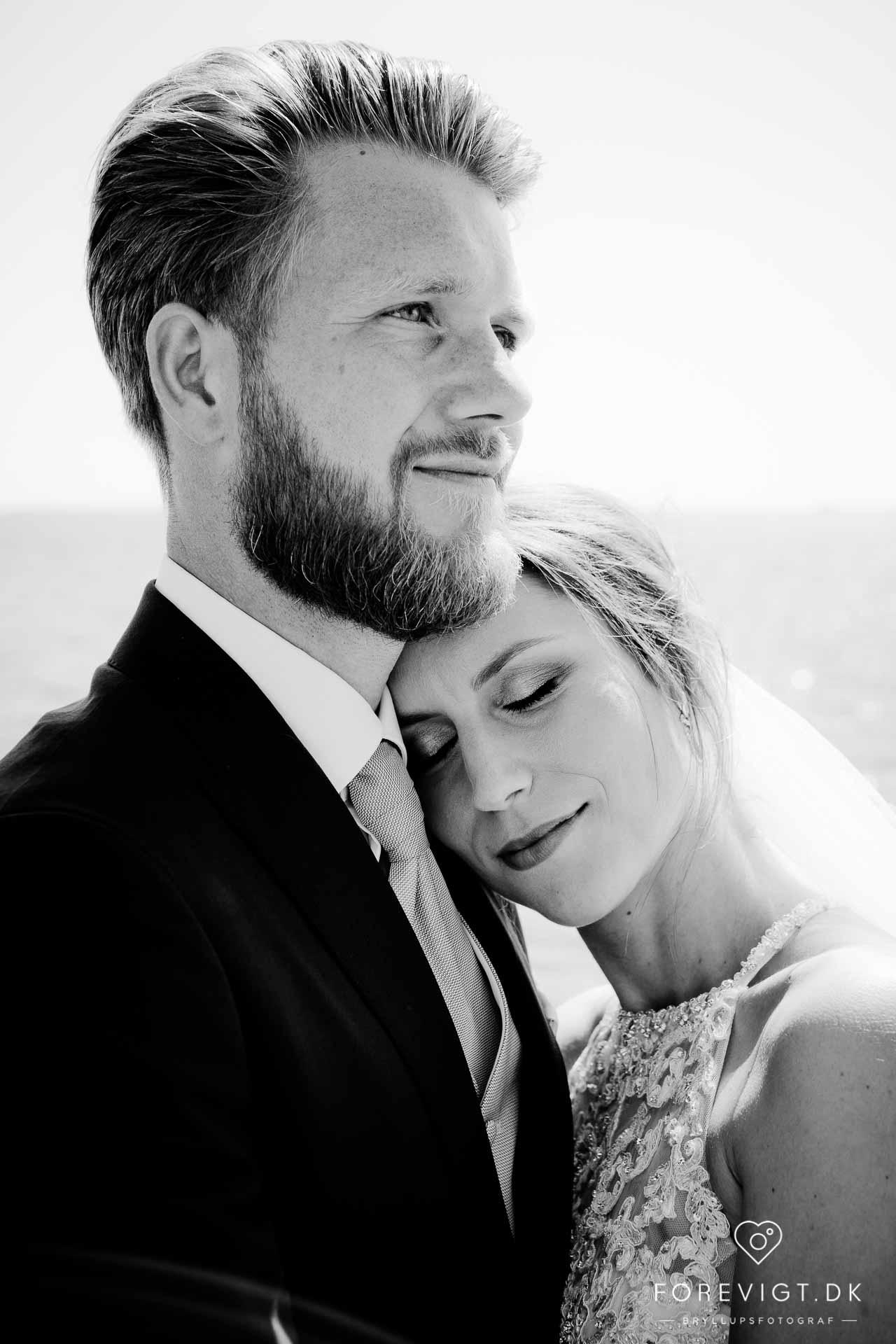 brudepar på Hjerting Strand