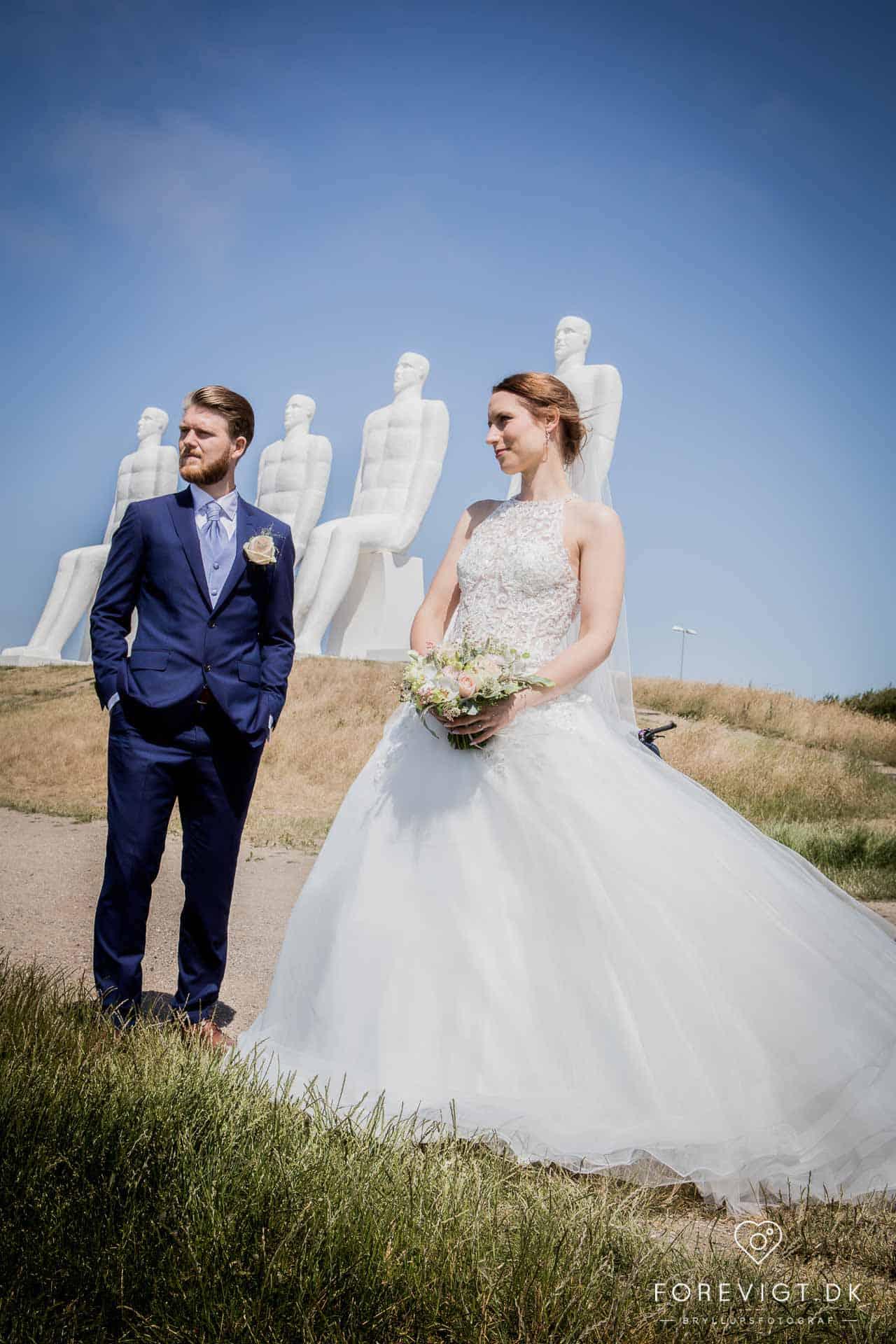Bryllupsbilleder med kant i Esbjerg