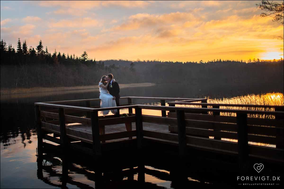 bryllupsfoto solnedgang Bjerringbro