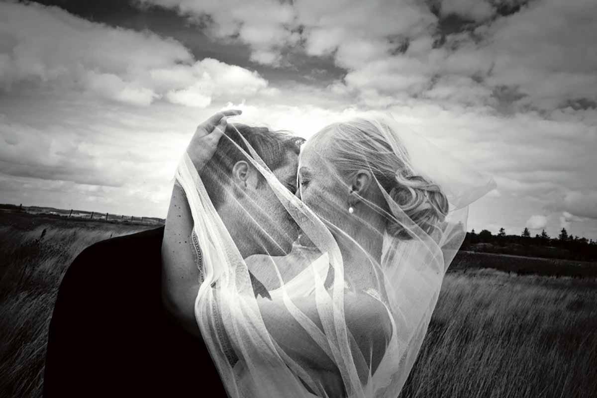 professionelle bryllupsfotograf i Dronninglund