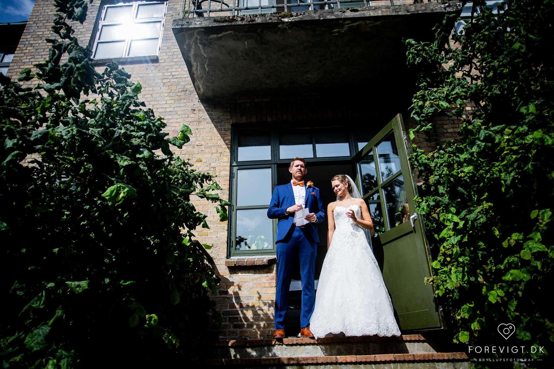 Ryå Efterskole bryllup fotograf