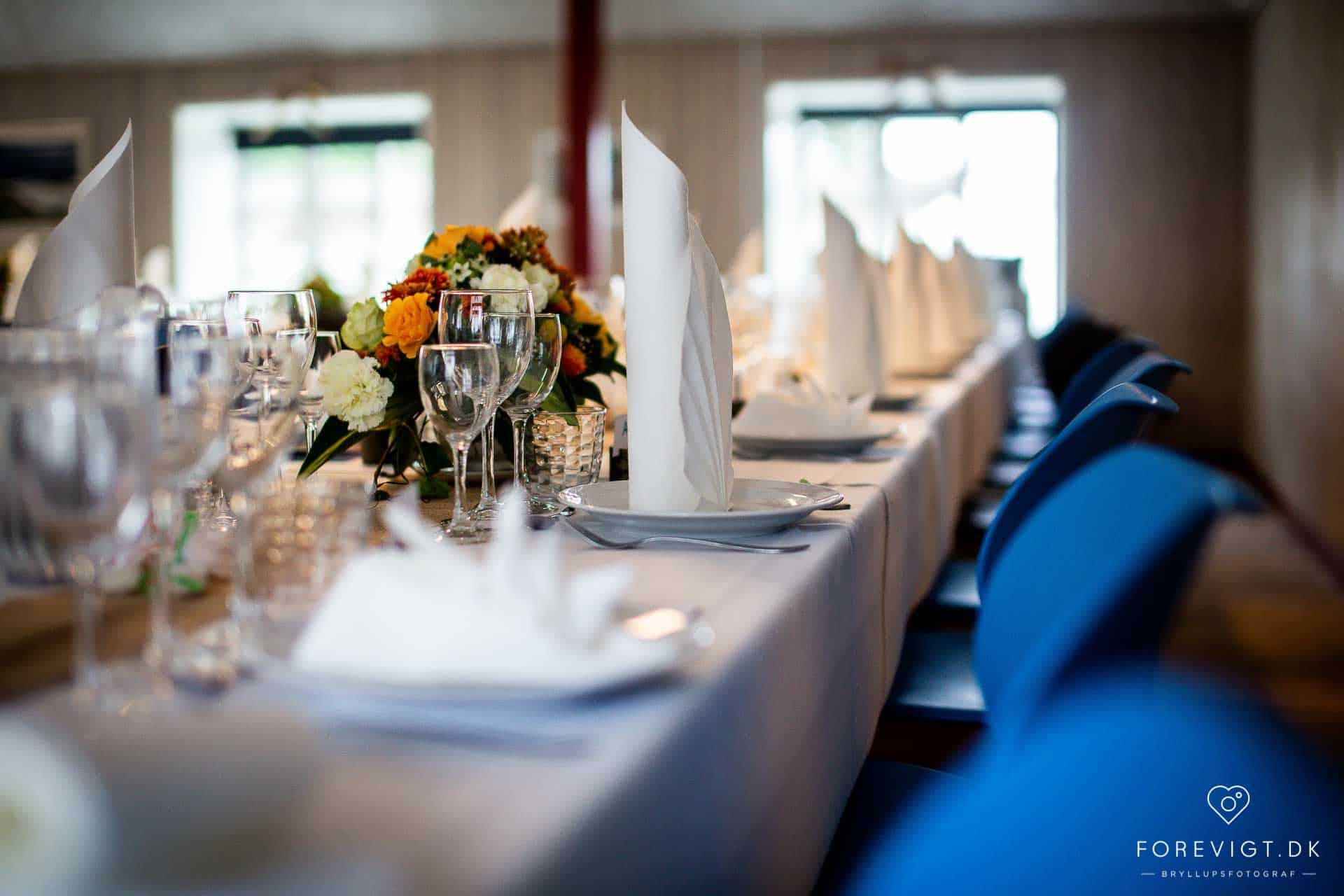 Ryå Efterskole bryllupsbord
