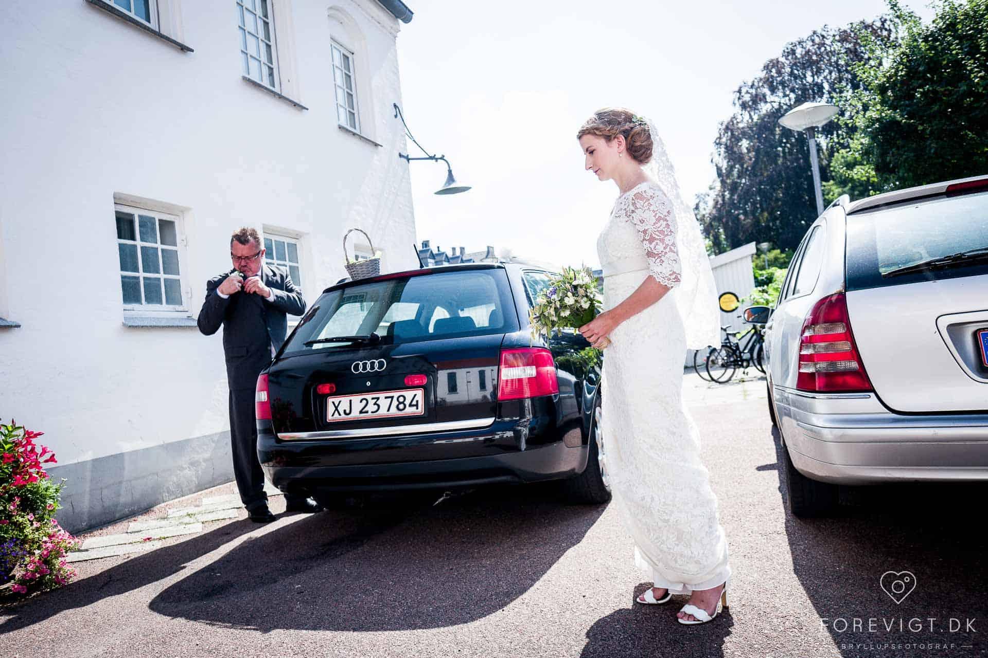 et bryllup i Filips Kirke på Amager