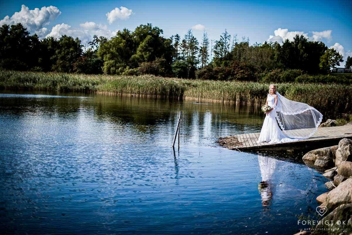 bryllupsfotografering ved Billund