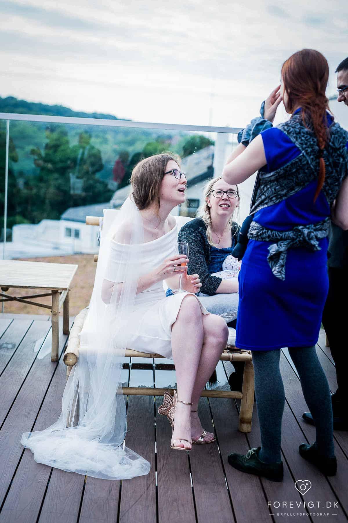 Bryllupsportrætter og reception