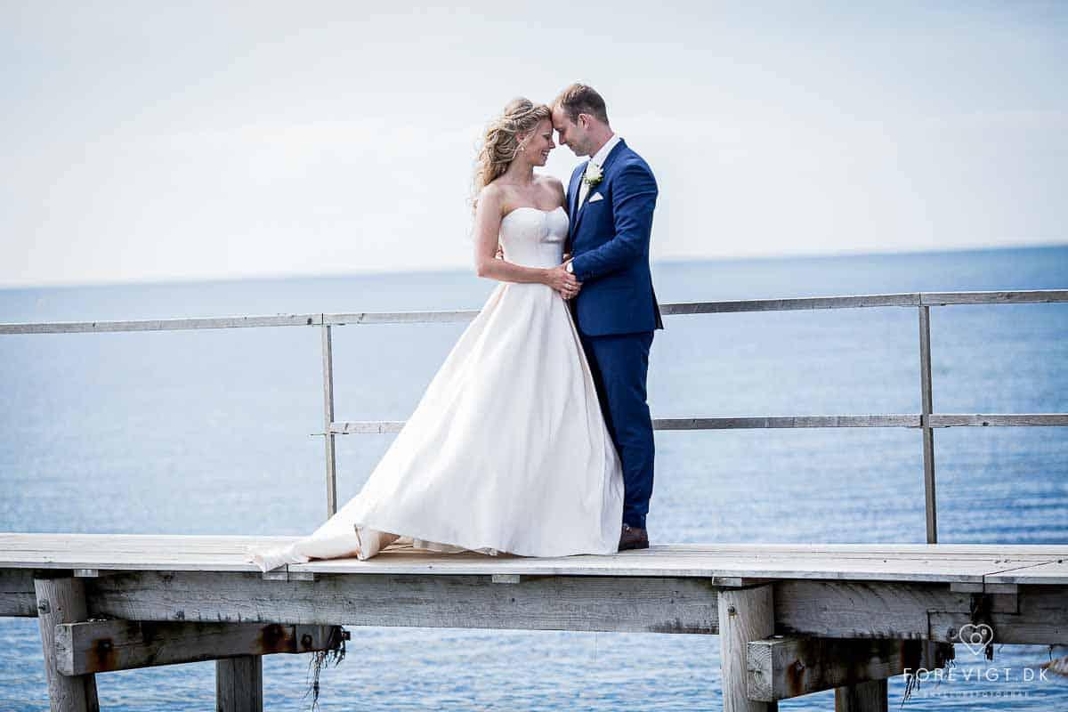Til bryllupsbilleder kan anbefales: Badebroen