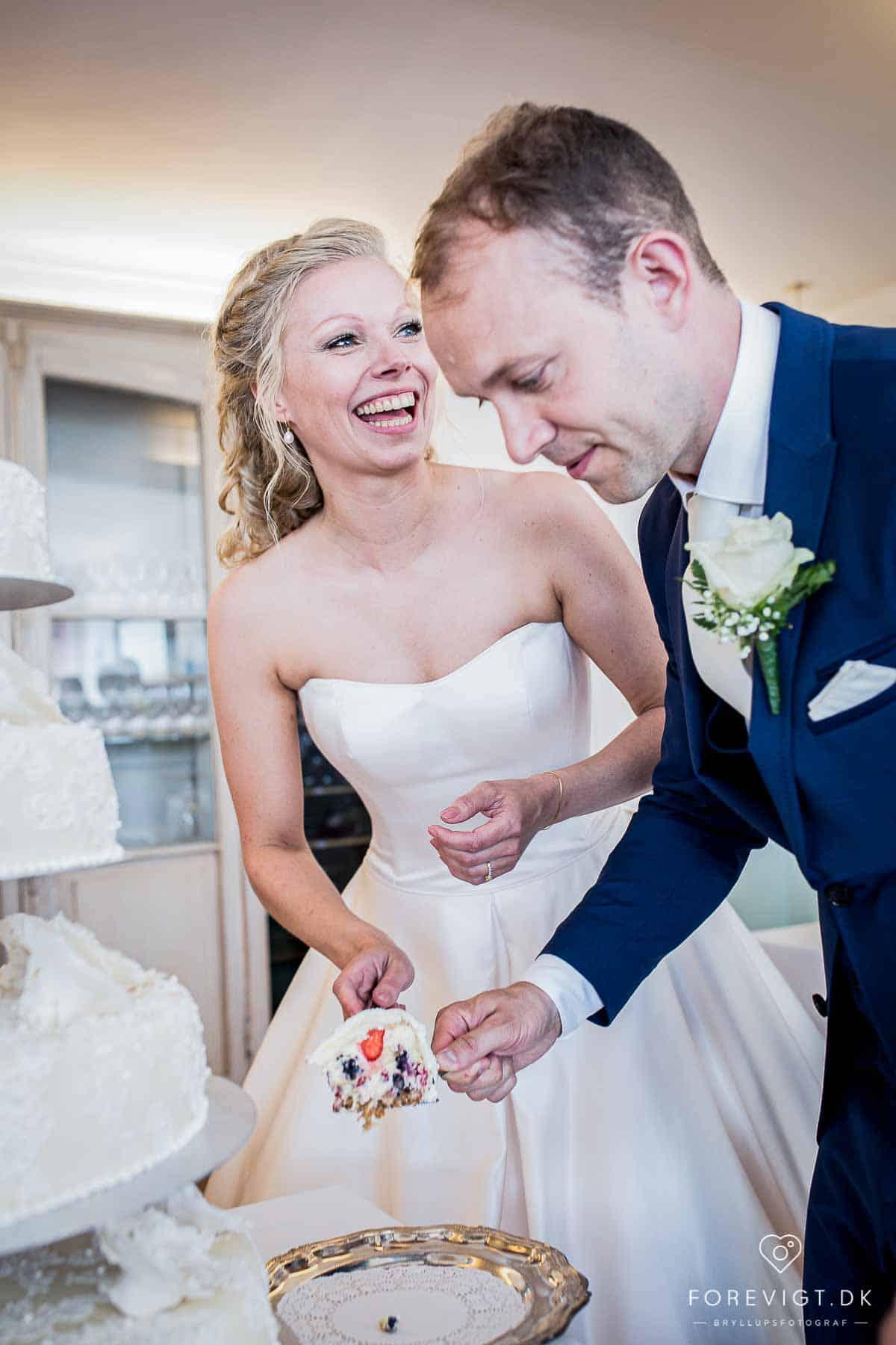 bryllupskage ved brudepar kalundborg