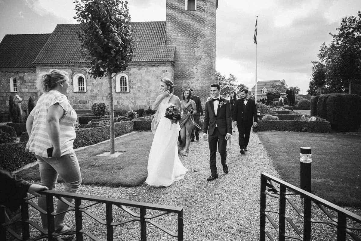 bryllupsfoto Sejling kirke