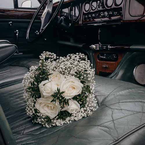 brudebuket detalje
