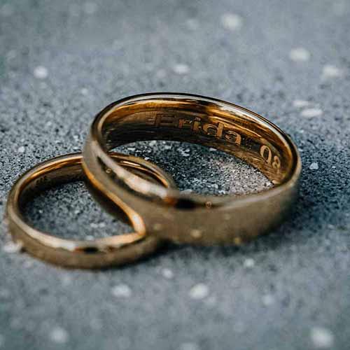 bryllup vielsesringe detaljer