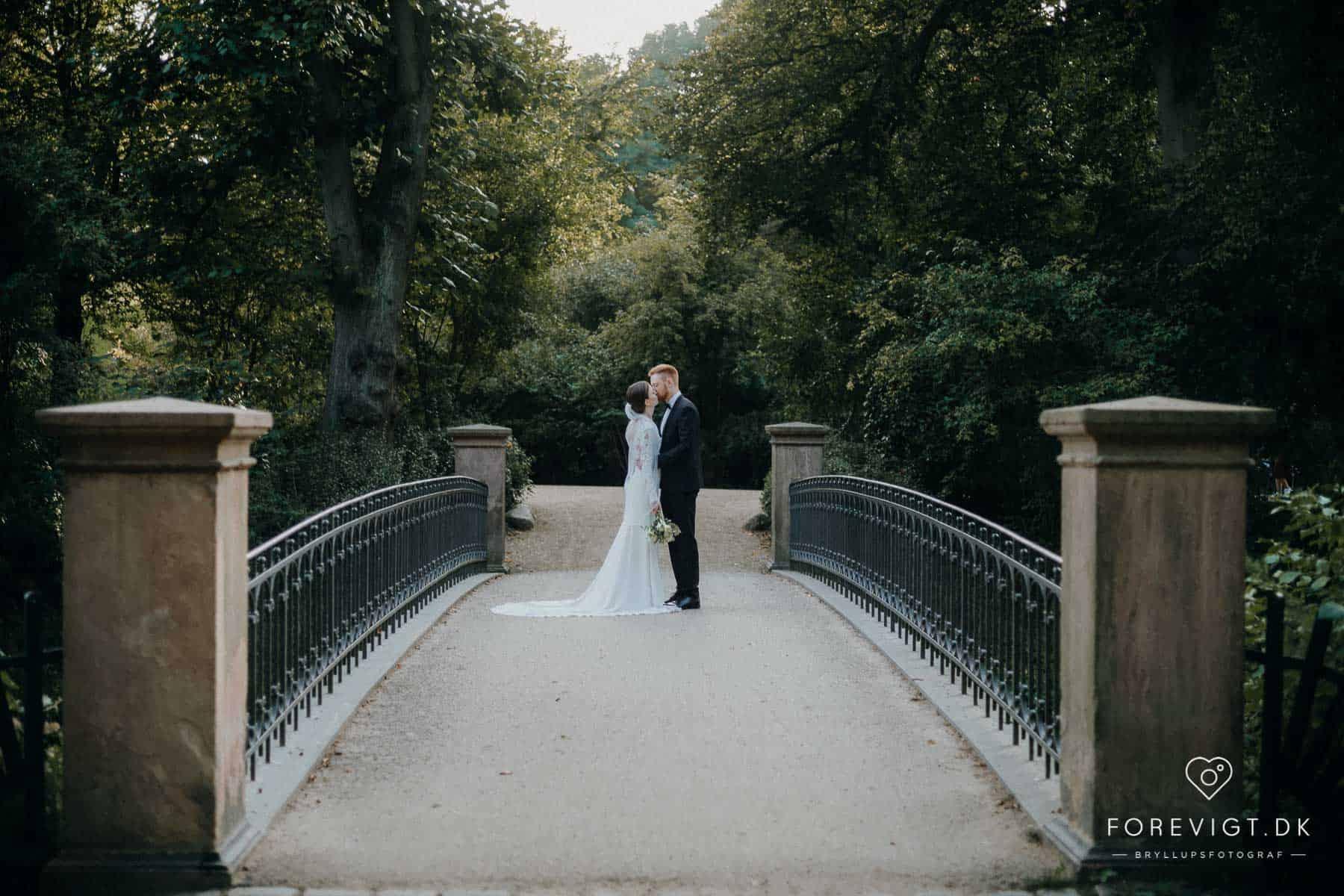 bryllupsbilleder Frederiksberg Have i KBH