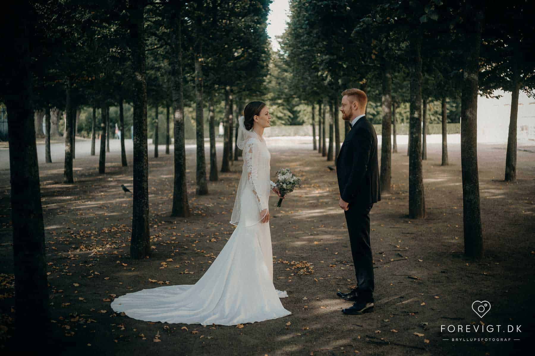 bryllupsfotografering Frederiksberg Have