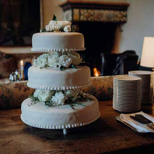 bryllupskage detalje