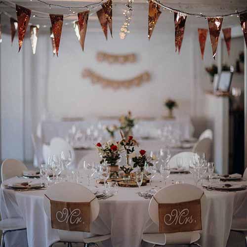 detalje bryllup og bordpynt